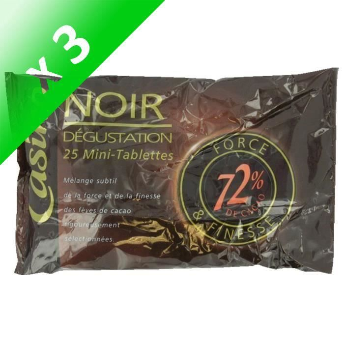 [LOT DE 3] Mini tablettes de chocolat noir Dégustation - 200 g