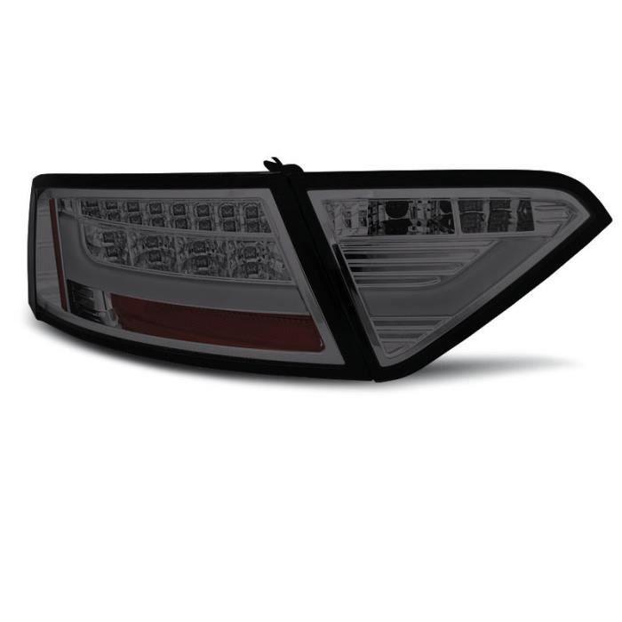 Paire de feux arriere Audi A5 07-11 coupe led LTI fume (UE4)