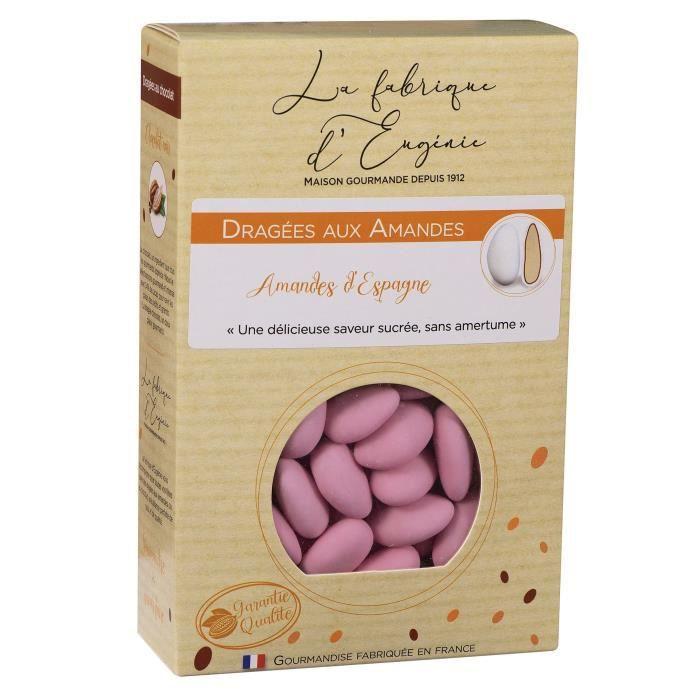 LA FABRIQUE D'EUGENIE Dragées aux Amandes - Rose - 500 g