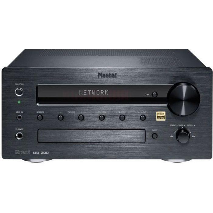 Magnat MC 200 - Micro-chaîne 2 x 35 Watts - Lecteur CD/MP3/WMA - Tuner FM/DAB+ - Hi-Res Audio - Bluetooth aptX - Wi-Fi/Ethernet