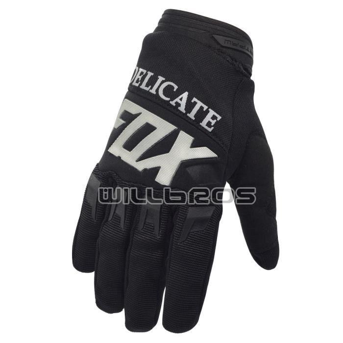 Gants,Gants de cyclisme Fox délicat,gants de course MX Enduro vtt DH vélo équitation Sports de plein air,360 - Type Black