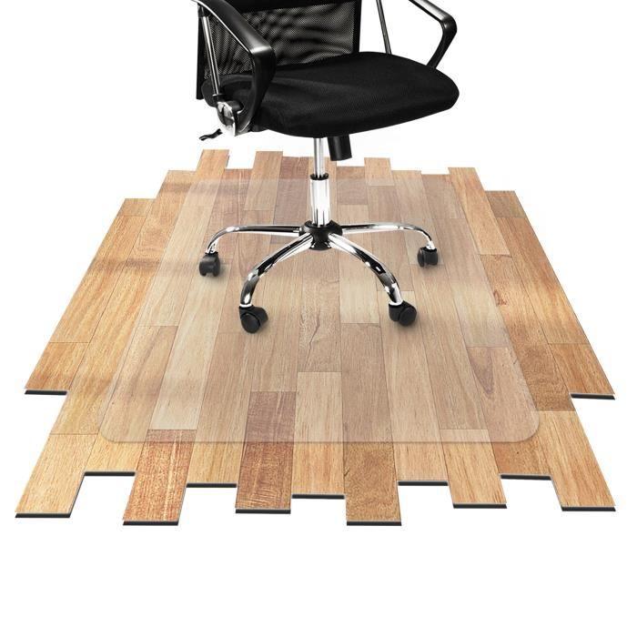 Tapis Protège-Sol Bureau - 75x120 cm - Tapis Sous Chaise en Vinyle Flexible Antidérapant pour Sols Durs