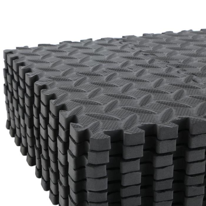 Fleu 36pcs Tapis de protection de sol – Matelas puzzle pour matériel fitness, gym, musculation – 15cm*15cm