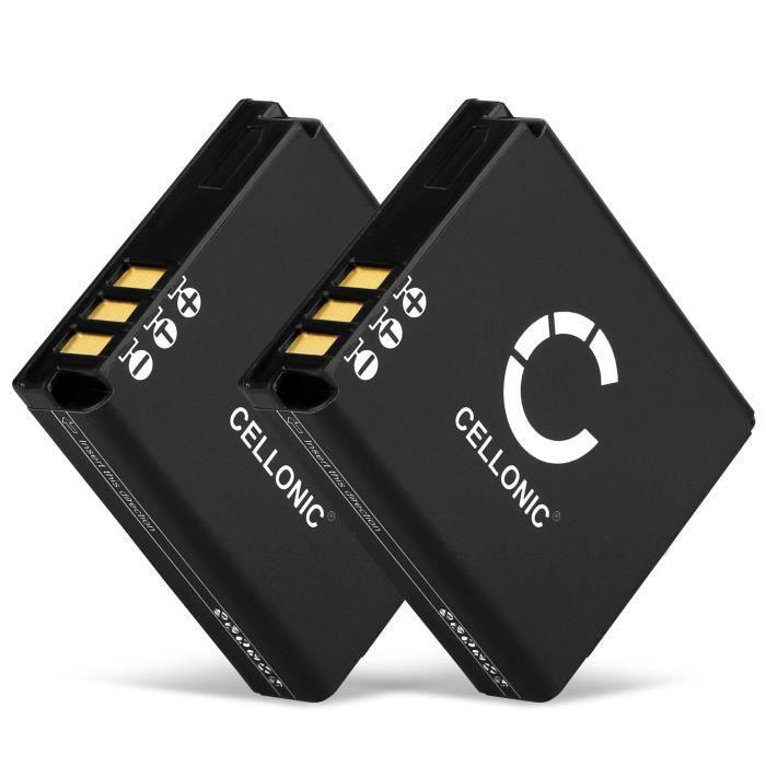 CELLONIC 2X Batterie Premium Compatible avec Ricoh GR Digital II IV GX200 GX100 R5 R4 R3 GR Digital I R30 R40 G600, DB-60 DB-65
