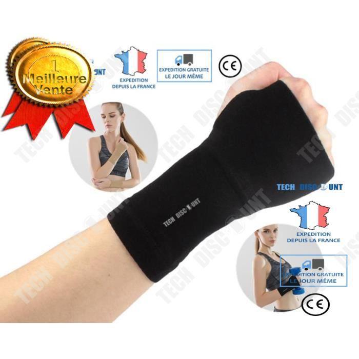 TD® manchon de compression bras femme running handball homme sport badminton tennis contention circulation sanguine main poignet