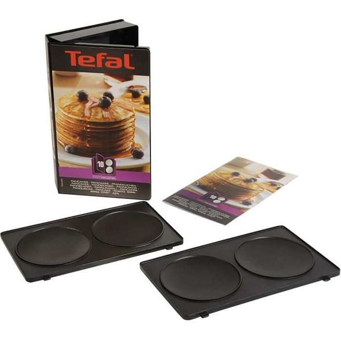 TEFAL Lot de 2 Plaques Pancakes - Snack Collection - XA801012