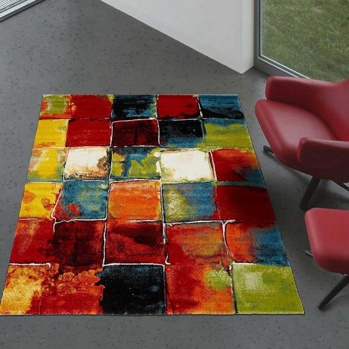 Tapis salon moderne de créateur BELO 2 280 x 380 cm Multicolore