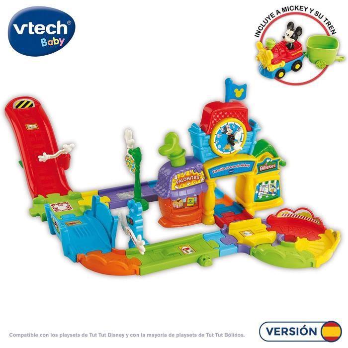 VTech Play Set electrónico interactivo con 'La Estación de tren' y un coche exclusivo de Mickey (80
