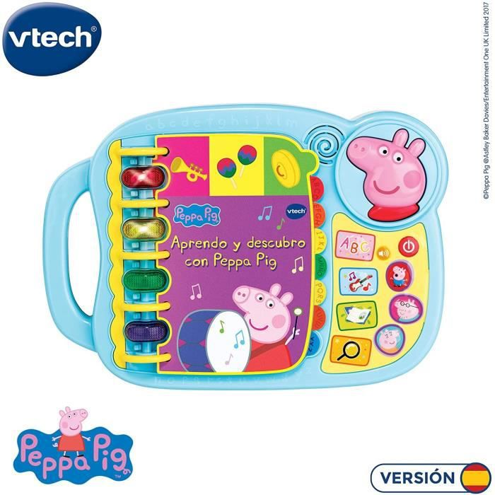VTECH- Aprendo y Descubro con Peppa Pig Libro Infantil Que Enseña El Abecedario y Nuevas Palas (3480
