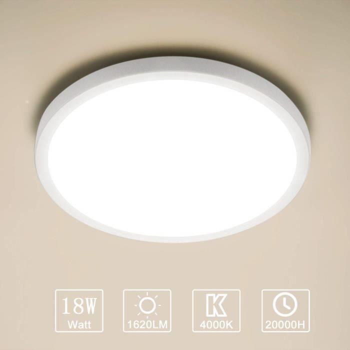 Yafido Plafonnier LED Panel Moderne Ultra-mince Facile à installer
