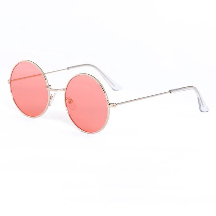 Inlefen Lunettes de vue rondes avec monture de lunettes m/étalliques r/étro pour hommes et femmes