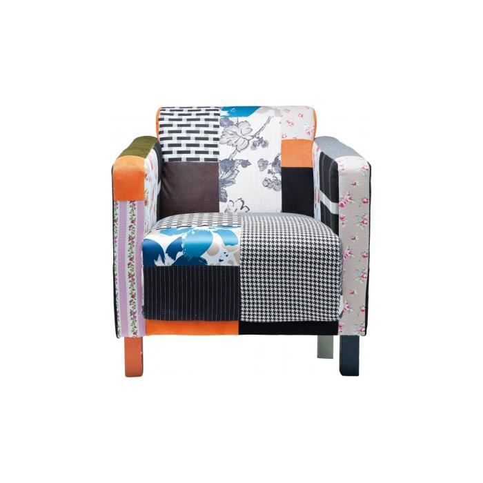 fauteuil patchwork elegant kare design achat vente. Black Bedroom Furniture Sets. Home Design Ideas
