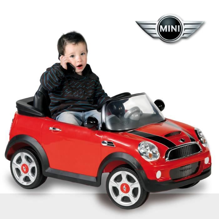 biemme mini cooper electrique avec radiocommande rouge. Black Bedroom Furniture Sets. Home Design Ideas