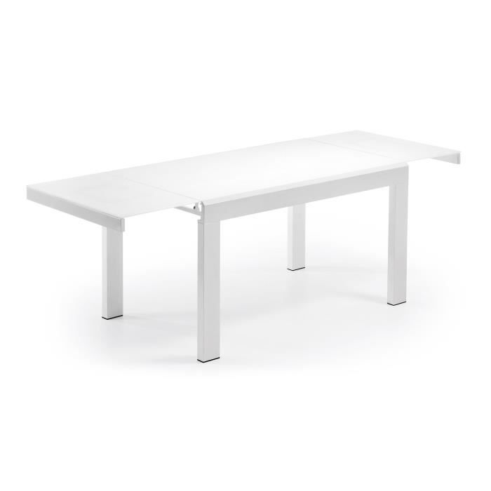 Table extensible candence blanc 140 230 cm achat for Table extensible 140 cm