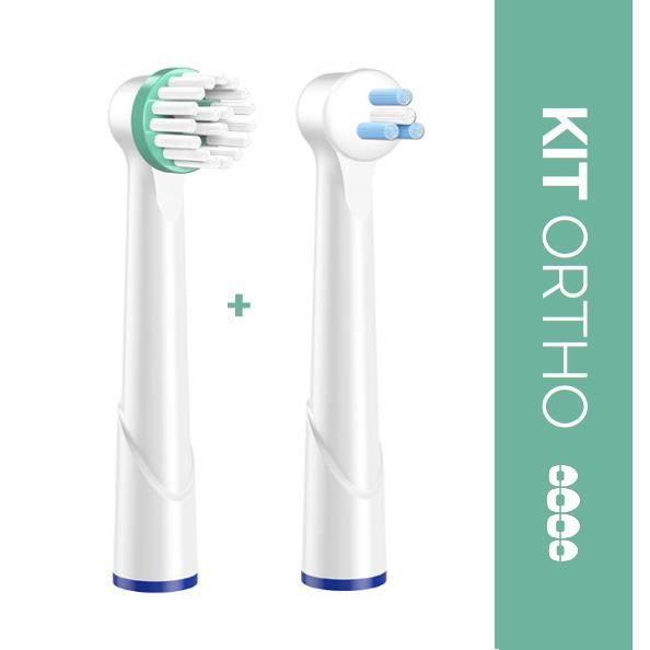 BROSSE A DENTS CANDORE® Kit Ortho 2 Brossettes Oral B Compatibles