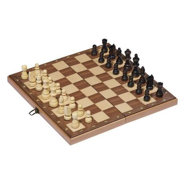 jeu d 39 checs en bois pliable 38x38 cm achat vente jeu. Black Bedroom Furniture Sets. Home Design Ideas