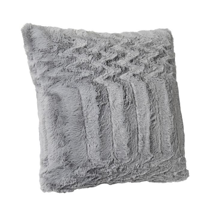 Coussin Imitation Fourrure Grizzly Achat Vente Coussin Cdiscount