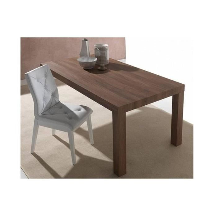 Table repas extensible fusion noyer americain cette for Table de repas extensible