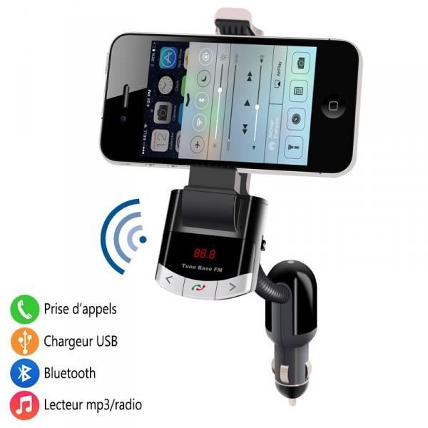 kit main libre bluetooth pour voiture auto mp3 radio chargeur usb carte sd pour smartphone. Black Bedroom Furniture Sets. Home Design Ideas