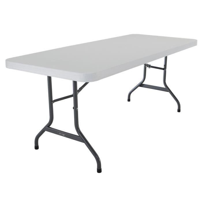 Lifetime - Table pliante rectangulaire 183cm (blanc) pour 8 personnes