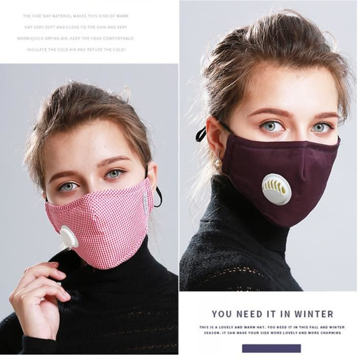 masque anti poussiere en coton