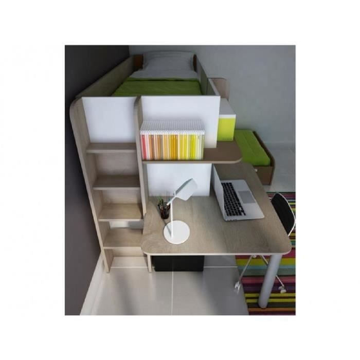 lit superpose bureau achat vente pas cher. Black Bedroom Furniture Sets. Home Design Ideas