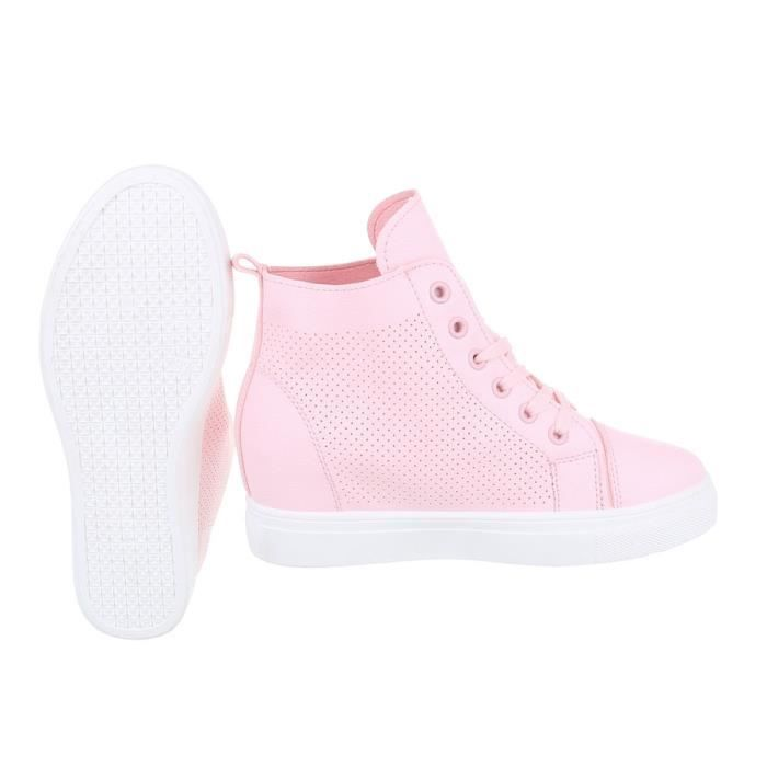 Chaussures femme chaussures sportsemelle compenséeSneakers rose 41