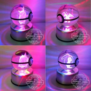 OBJET DÉCORATION MURALE Snorlax Lumière colorée 3D Pokemon Crystal Ball jo