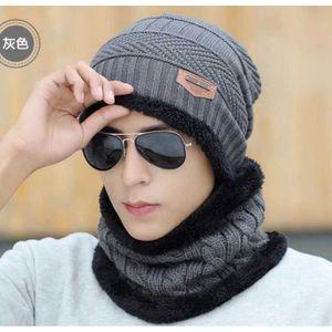 Evrfelan deux morceaux d/'hiver Chapeau /& Écharpe Lot Pour Hommes Hiver bonnets écharpes mâle