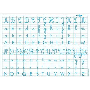 AFFICHE - POSTER carte murale abecedaire 70 x 100 cm.