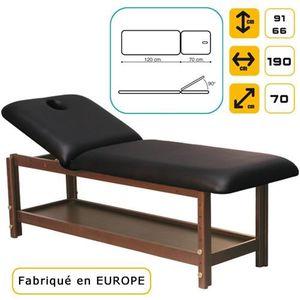 Table de massage Lit de massage Luxe en bois, hêtre Massif foncé...