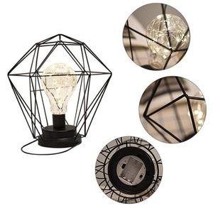 LAMPE A POSER Vintage Industriel Socle en Lampes de Table,Fer Fo
