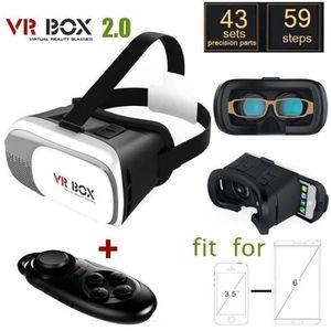 CASQUE RÉALITÉ VIRTUELLE VR BOX 2.0 Version VR Virtual lunettes 3D + Blueto