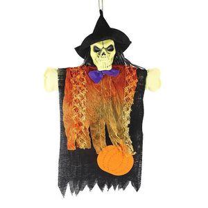 KIT DE DECORATION Halloween squelette épée épouvantail décoratif Hal