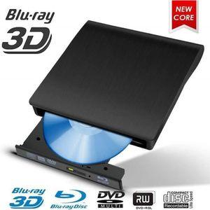 LECTEUR - GRAVEUR EXT. Lecteur Blu-Ray Externe USB 3.0 3D 4 K DVD CD Blur