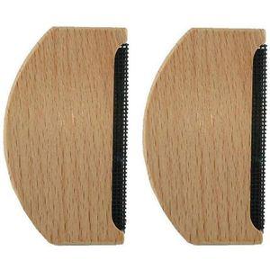 d/épeluches portables Qiajie Lot de 2 peignes en cachemire en bois pour v/êtements et pulls