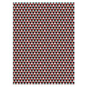 Kit papier créatif Feuille decopatch n°719, Petites alvéoles multicol