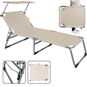 2er Set bleue de Jardin Chaise Relax Chaise longue transat transat transat pliable jusqu/'à 120 kg