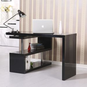 MEUBLE INFORMATIQUE Table bureau table informatique adjacente pivotant