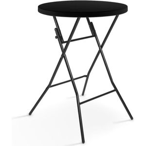 MANGE-DEBOUT Mange debout pliant noir - Table haut de bar