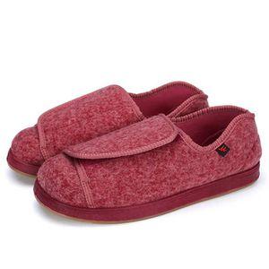 Hommes diabétiques Orthopédique Confort Chaussons Bottine Chaussure extra large EEEEE réglable