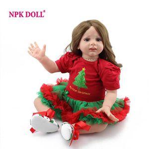 POUPÉE NPK Reborn Baby Doll Réaliste 24 pouce Souple En S