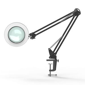LAMPE LOUPE LED Lampe Loupe 5X Verre Bras Flexible Lampe de Bu