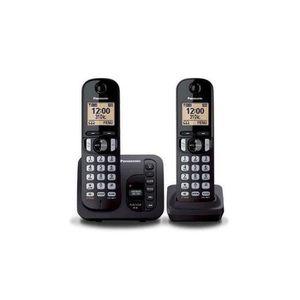 Téléphone fixe PANASONIC téléphone DECT duo noir avec répondeur