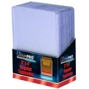 "CARTE A COLLECTIONNER 3"" X 4"" Clear Regular Toploader par 25 Ultra Pro"