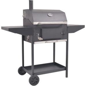 BARBECUE vidaXL Barbecue au charbon de bois avec étagère in