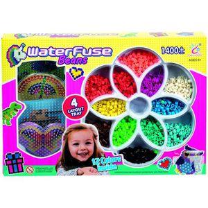 JEU DE PERLE Á REPASSER WDK Grande boîte aqua perles - 1400 pièces