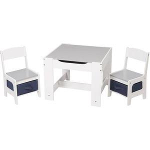 TABLE ET CHAISE WOLTU Ensemble table et chaises en MDF, 1 table +