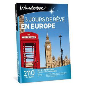 COFFRET SÉJOUR Wonderbox - Coffret cadeau - 3 Jours de rêve en eu