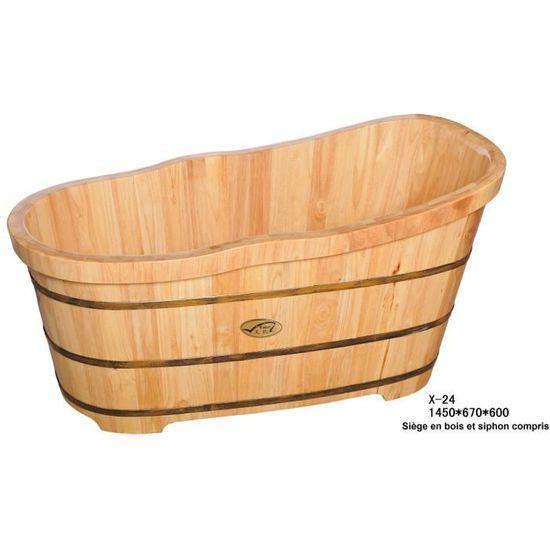 Baignoire en bois baignoire japonaise en chene - Achat ...